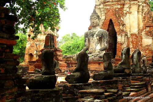 Buddha statues in Ayutthaya, Thailand