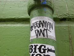 omegaman (GotChicksLikeJesus) Tags: graffiti sticker omega bayarea slap dwt