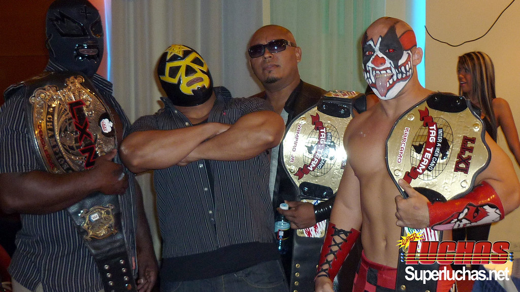 El Demoledor, Luzbell, Vampiro Jr & Karcamo / Photo by: Randall Gordón
