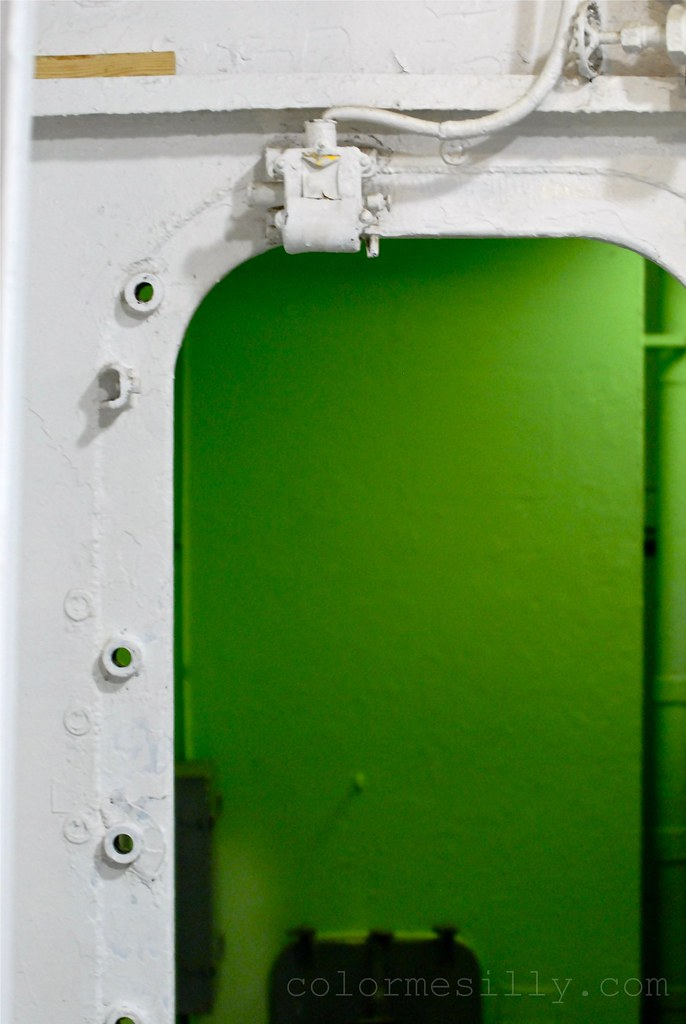 aircraft carrier doorway, detail