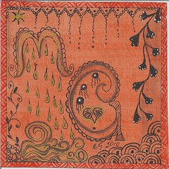 Kikau mail from Margaret Guthrie (molossus, who says Life Imitates Doodles) Tags: tangles zentangle kikau zendoodle zentangleinspiredart