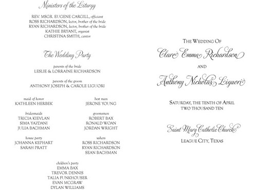 00 Program Cover copy Welcome Page Welcome your wedding guests to the