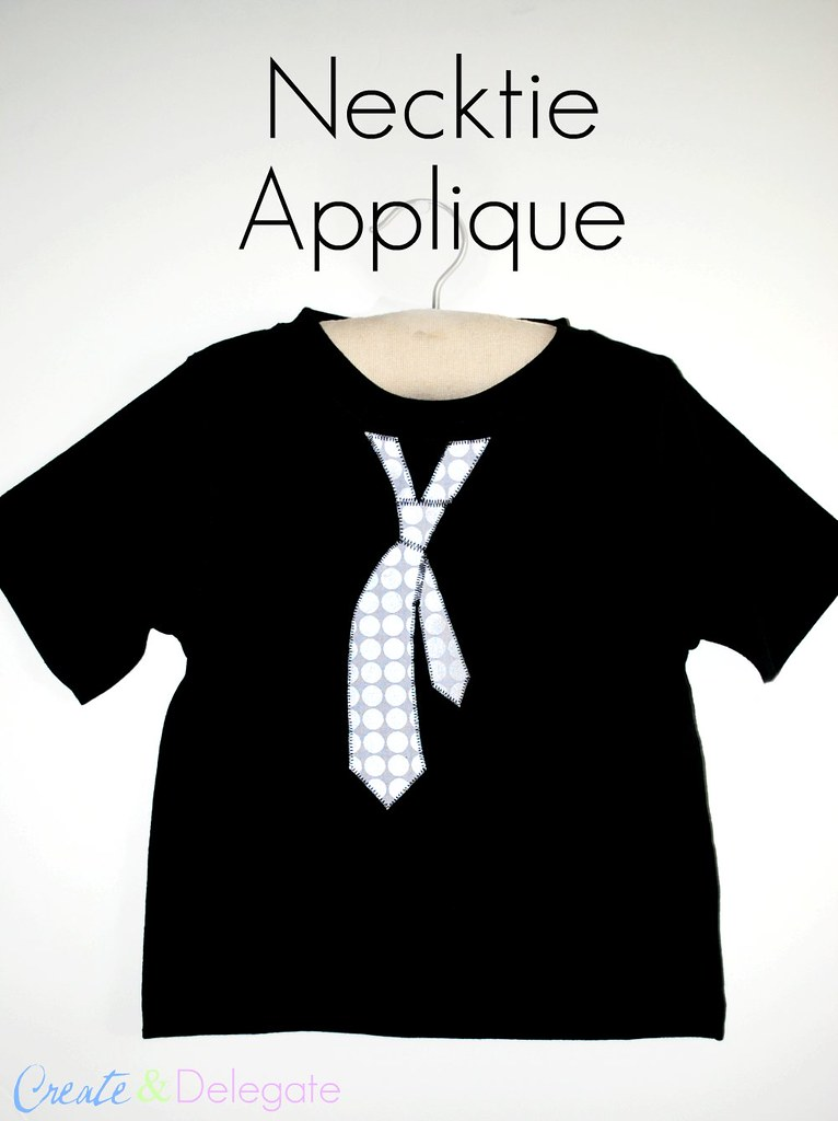 necktie applique 011