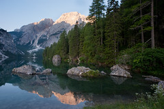 Lago di Braies (OneEighteen) Tags: italy lake trekking hiking dolomites altavia1