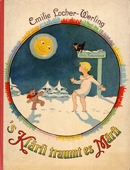 Emilie Locher-Werling / 's Klrli traumt es Mrli (micky the pixel) Tags: winter moon buch book mond raven livre fairytales rabe mrchen teddybr wegweiser traum childrenbook traumland kinderbuch