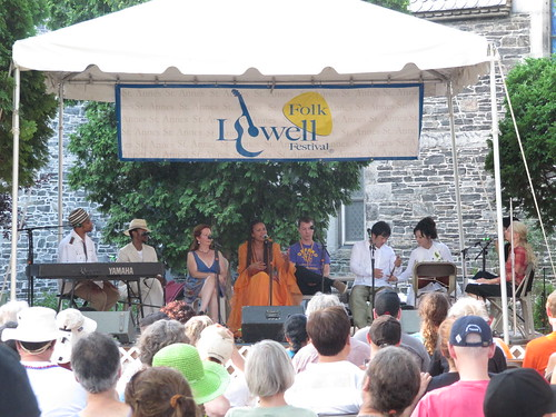 "Lowell Folk Festival, a capella styles combined ""voice singing"""