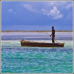 African colours (carlobaldino) Tags: africa travel blue sea sky clouds nuvole mare kenya blu cielo viaggi watamu flickraward