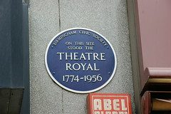 Photo of Theatre Royal Birmingham blue plaque