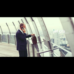 The Business Call (jef cris) Tags: portrait people businessman canon corporate singapore dof bokeh candid strangers naturallight cinematic canon50mmf14 jefcrisdigitalphotography siebescreamycyan thebusinesscall marinabayskypark
