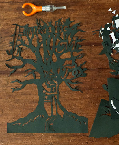 Fantastic Mr Fox papercut