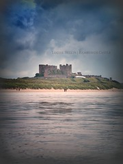 Bamburgh Castle (Louise Bellin) Tags: light sea england sky reflection building tower castle english heritage history castles abandoned beach monument water beautiful clouds photography coast scotland seaside ruins fort decay tide low neglected shoreline ruin scottish east northumberland coastal louise forgotten shore northumbria historical walls lowtide bamburgh stronghold fortress derelict château abandonment decayed dereliction ruined ecosse bamburghcastle bellin ecossais lecosse ecossaise louisebellin sutherlandaddict