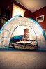 213/365 - Fortress of Solitude (Micah Taylor) Tags: cute ikea home quiet time tent igloo 2yo project365 taylorkiddos