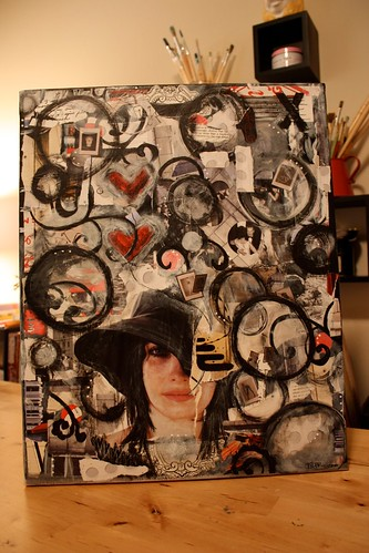 je taime...collage painting