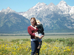 Sunny and windy (elayne_crain) Tags: meadow benjamin wyoming grandtetons elayne