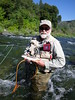Keith fly fishes the fast water to find an Upper Sacramento River Rainbow