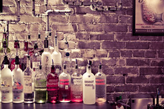 Vodka Collection (christian.senger) Tags: travel red urban usa white brick texture bar night digital america silver austin geotagged grey restaurant nikon texas stones availablelight gray indoors alcohol vodka piping attraction lightroom d300 christian_senger:year=2010 foursquare:venue=22133