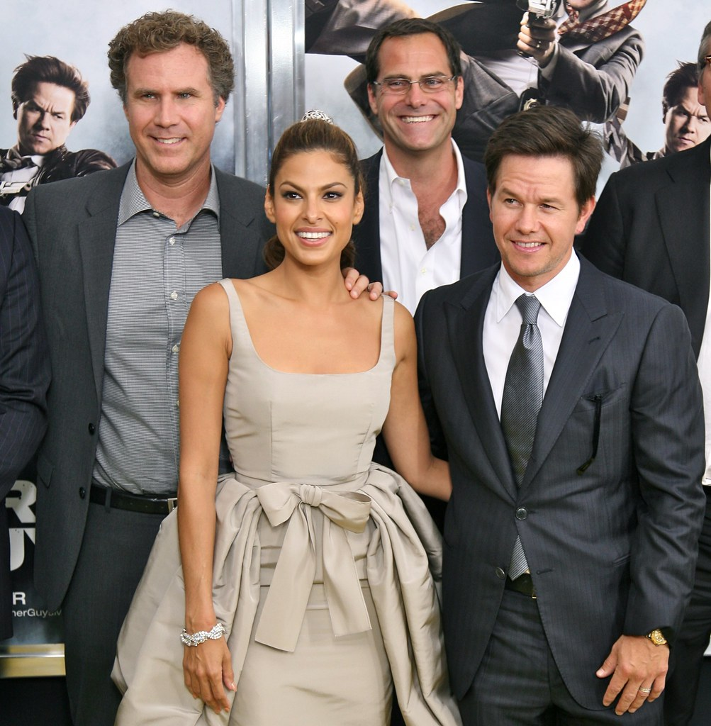 """Will Ferrell, Eva Mendes, Mark Wahlberg, Director Adam McKay, """"The Other Guys"""" Film Premiere, New York"""