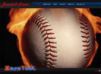 FlashMint 2679 rip Baseball team XML flash full website