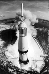 Apollo 11 Launched Via the Saturn V Rocket-Hig...