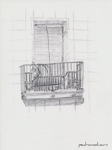 El balcón de delante