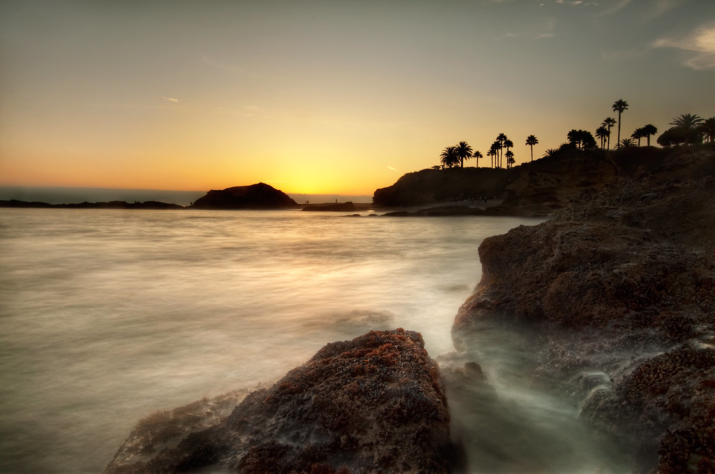 Laguna Beach at Sunset.