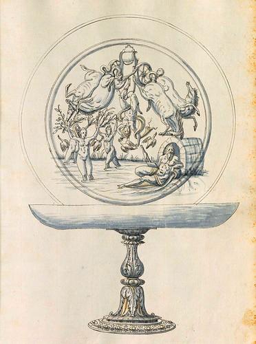 020-Fuente con plato-Entwürfe für Prunkgefäße in Silber mit Gold-BSB Cod.icon.  199 -1560–1565- Erasmus Hornick