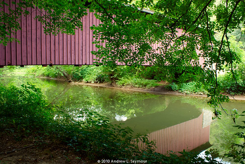 Mercer Covered Bridge HDR 03 (Reflections)