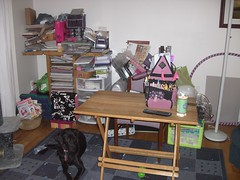 My scrapping corner before my scrapbox