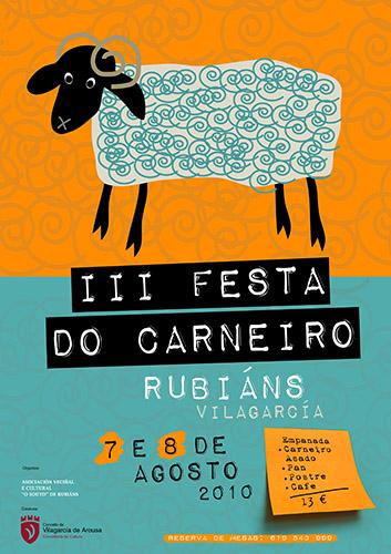 Festa do Carneiro de Rubiáns 2010 - Vilagarcía - agosto - cartel