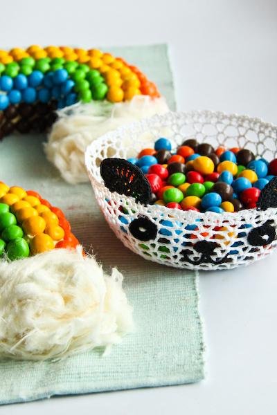 Rainbow Cake Chocolat Coeur Smarties