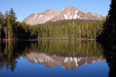 """Chaos Crags and Reflection Lake (Alan Vernon.) Tags: trees lake mountains reflection landscape scenery chaos mount crags lassen californian alanvernon """"copyright2010alanvernon"""""""