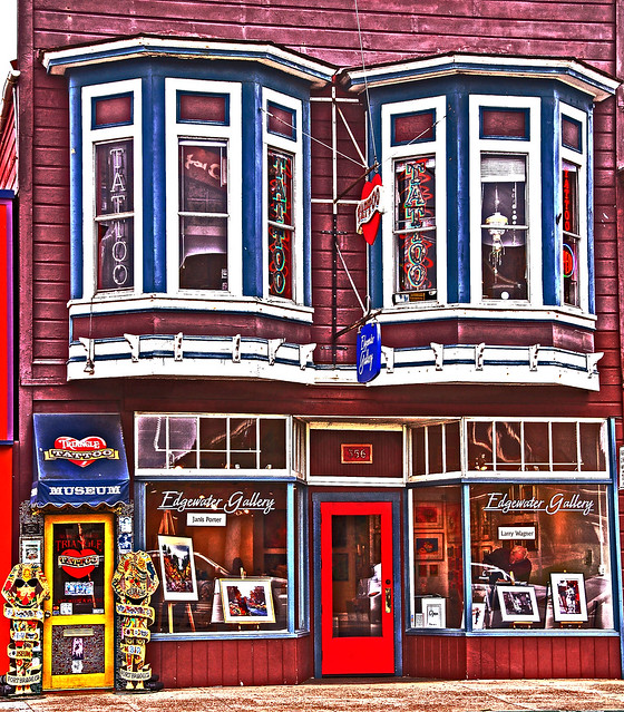 Triangle Tattoo & Museum is located on the main street through Ft. Bragg,
