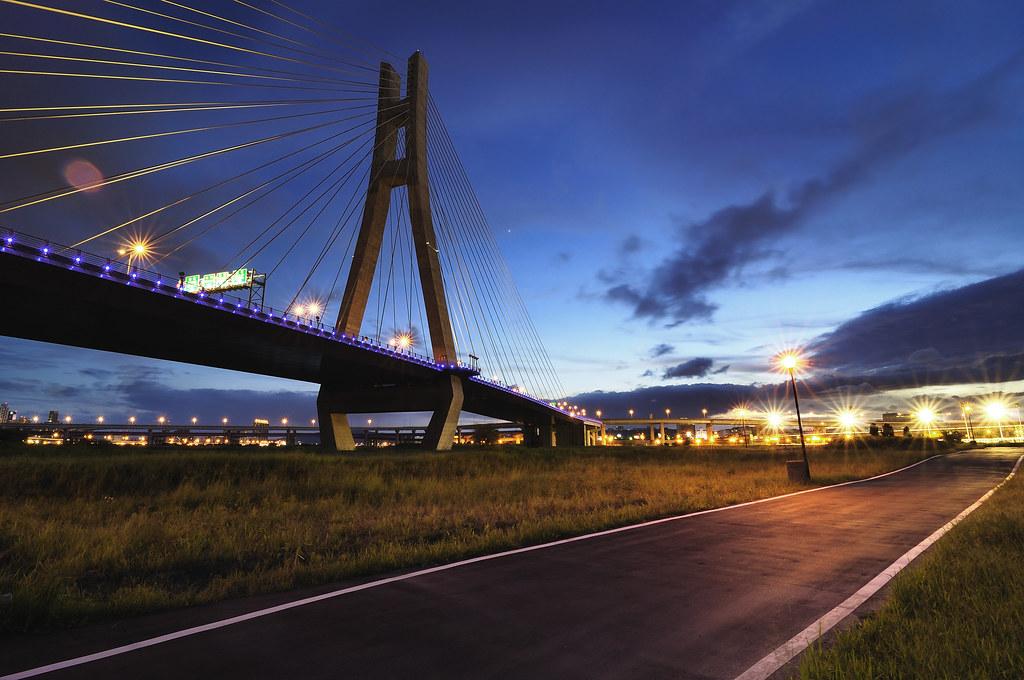 新北 斜張橋 夜光