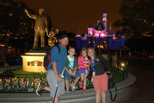 family photo at disneyland