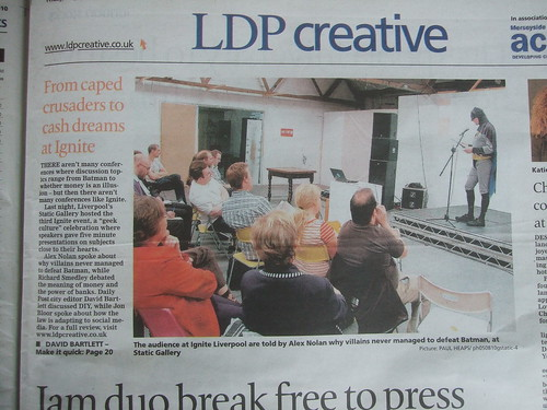 Ignite 3 featured in the Liverpool Daily Post