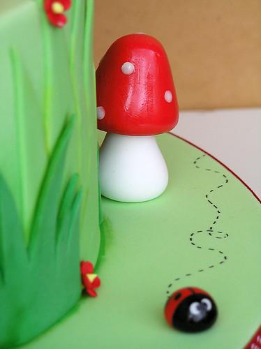 Toadstool and ladybug