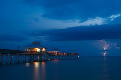 Lightning 2 (Sergio Garcia Rill) Tags: longexposure storm beach water night clouds reflections pier nikon florida remote lightning 2010 fortmyersbeach soutwestflorida d5000 nikond5000