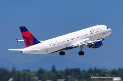 Delta Airlines jet, Seattle, WA US