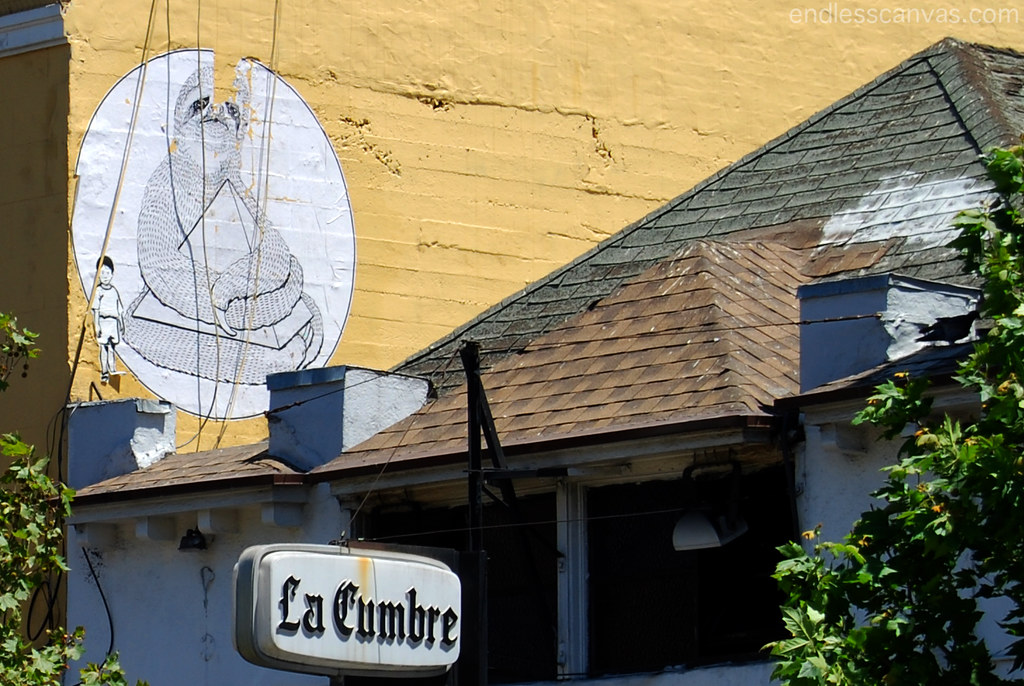 Sloth Pyramid Street Art in San Francisco CA.
