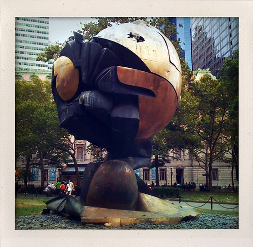 "surviving World Trade Center sculpture, Koenig's ""The Sphere"""