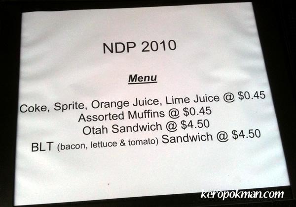 The 45 menu