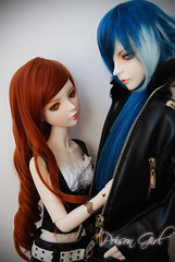 Ashlar & Rowan - DOT Lahoo & DOT Shall (-Poison Girl-) Tags: blue white black leather ball ginger couple doll dream super dot redhead wig bjd dollfie superdollfie dod rowan mayfair poisongirl shall dreamofdoll balljointeddoll taltos ashlar 60cm lahoo dotshall dotlahoo dodshall rowanmayfair dodlahoo