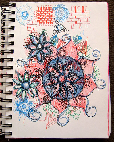 Red & Blue Doodles