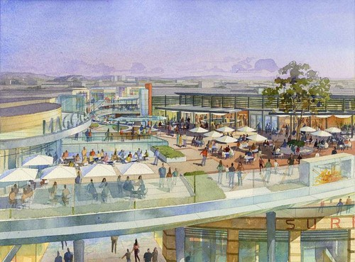 Santa Monica Place - Dining on the Deck