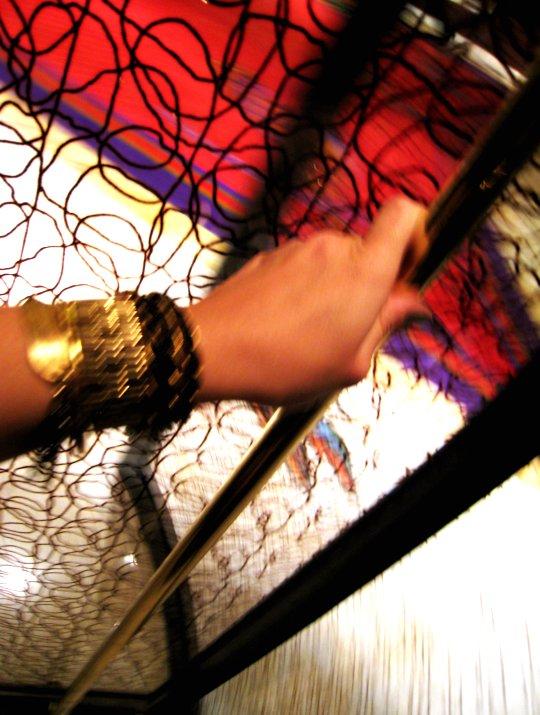 revolving glass door at Botero Restaurant