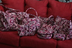 Vera bradley Piccadilly Plum Collection (Ladybug Lounge) Tags: travel pink baby bag burgundy maroon small large plum picadilly piccadilly bradley betsy hanging vera bowler cosmetic duffel