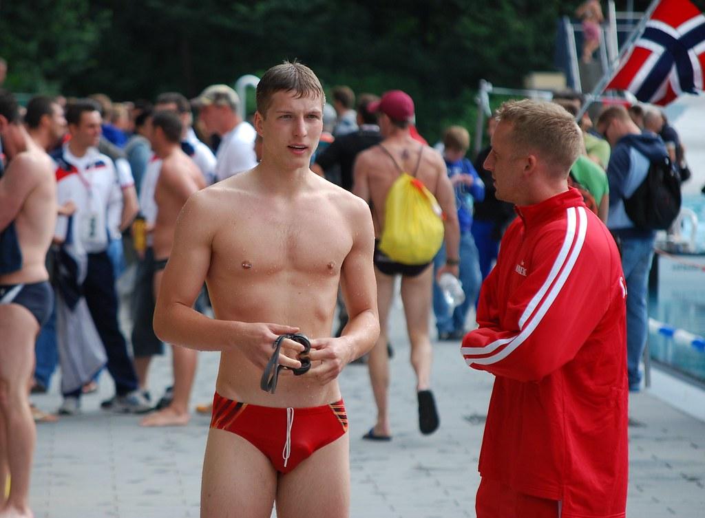 Gay swimmer boy