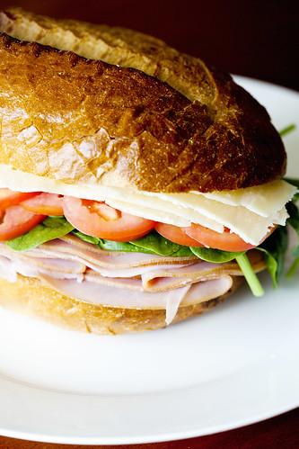 A huge ham sandwich