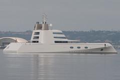Motor Yacht A in San Diego (SBGrad) Tags: aperture nikon sandiego yacht nikkor 2010 alr d90 blohmvoss superyacht a 80200mmf28dafs motoryachta blohmvossgmbh
