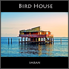 Bird House. Home By The Sea. Stunning Sunset Pastel Shades Backdrop Birds On Stiltsville Home, Key Biscayne, Miami, Florida - IMRAN __Worth Reading Too   1600+ Views! (ImranAnwar) Tags: ocean sky architecture outdoors landscapes marine florida miami boating atlanticocean rubyphotographer dragondaggeraward